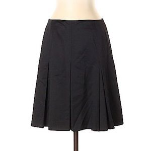 ESCADA Black Wool and Silk Flared A-Lined Skirt